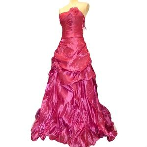 Love Pink Strapless Formal Gown Sz S NWT